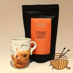 "Strikke kaffe og ""purrfekt krus"